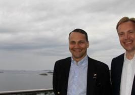 Wizyta Radosława Sikorskiego w Norwegii