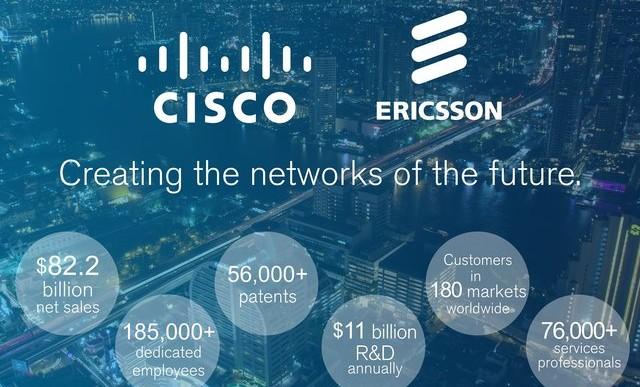 Współpraca Ericsson i Cisco osiągnie pełną efektywność w roku 2018