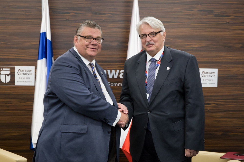 Spotkanie Witolda Waszczykowskiego z szefem dyplomacji Finlandii